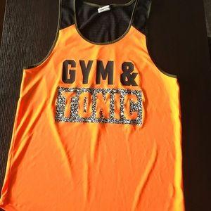 100% polyester workout tank